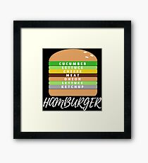 Hamburger Seasoning Framed Print