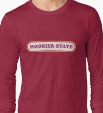 Hoosier State   Retro Badge T-Shirt