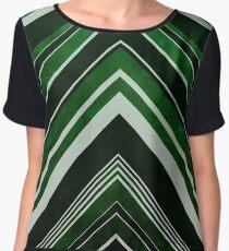 Geometric Geode - Emerald Women's Chiffon Top