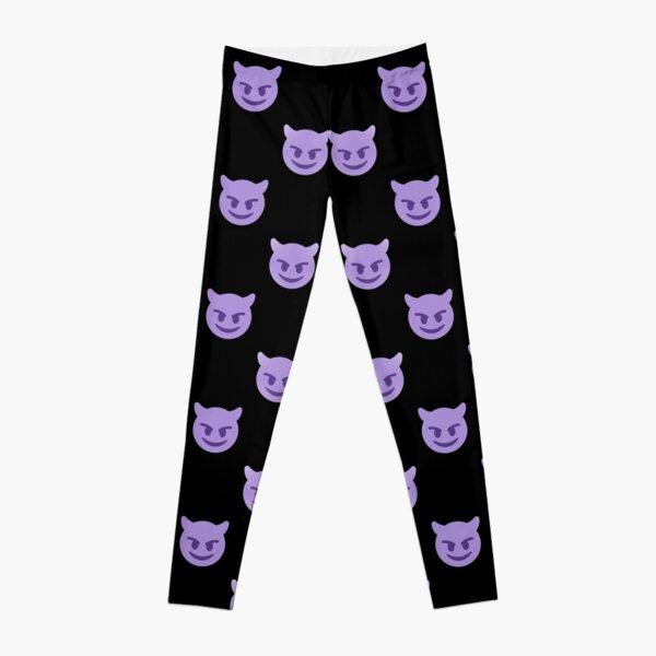 purple devil emoji Leggings