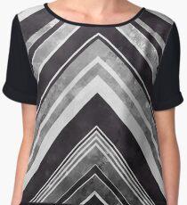Geometric Geode - Silver Women's Chiffon Top