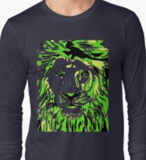 Lovely Lion Stencil (Green) T-Shirt