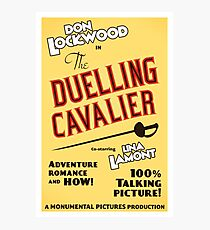 "Singin' in the Rain - ""The Duelling Cavalier"" (Revisited) Photographic Print"