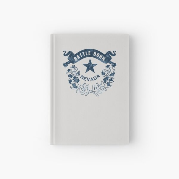 Nevada. Battle Born Flag. Vintage, Retro, Distressed. Hardcover Journal