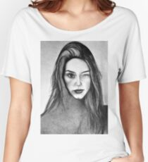 I Am Machine, 2017, 50-70cm, graphite crayon on paper Women's Relaxed Fit T-Shirt