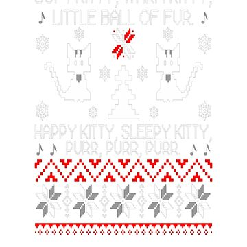 Ugly Christmas sweater for kitty lover by Cassiegi