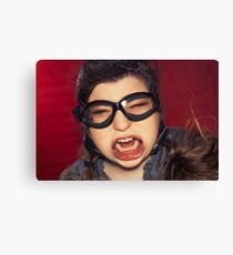 Aviator Silly Expression Canvas Print