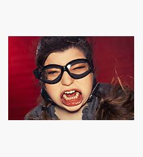 Aviator Silly Expression Photographic Print