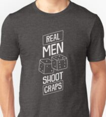 Mens Casino Shirt Real Men Shoot Craps Gambling Gift Design Tee T-Shirt