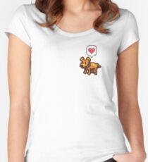 A Good Boy Women's Fitted Scoop T-Shirt