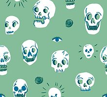 Pattern of skulls by Jacques & Lise