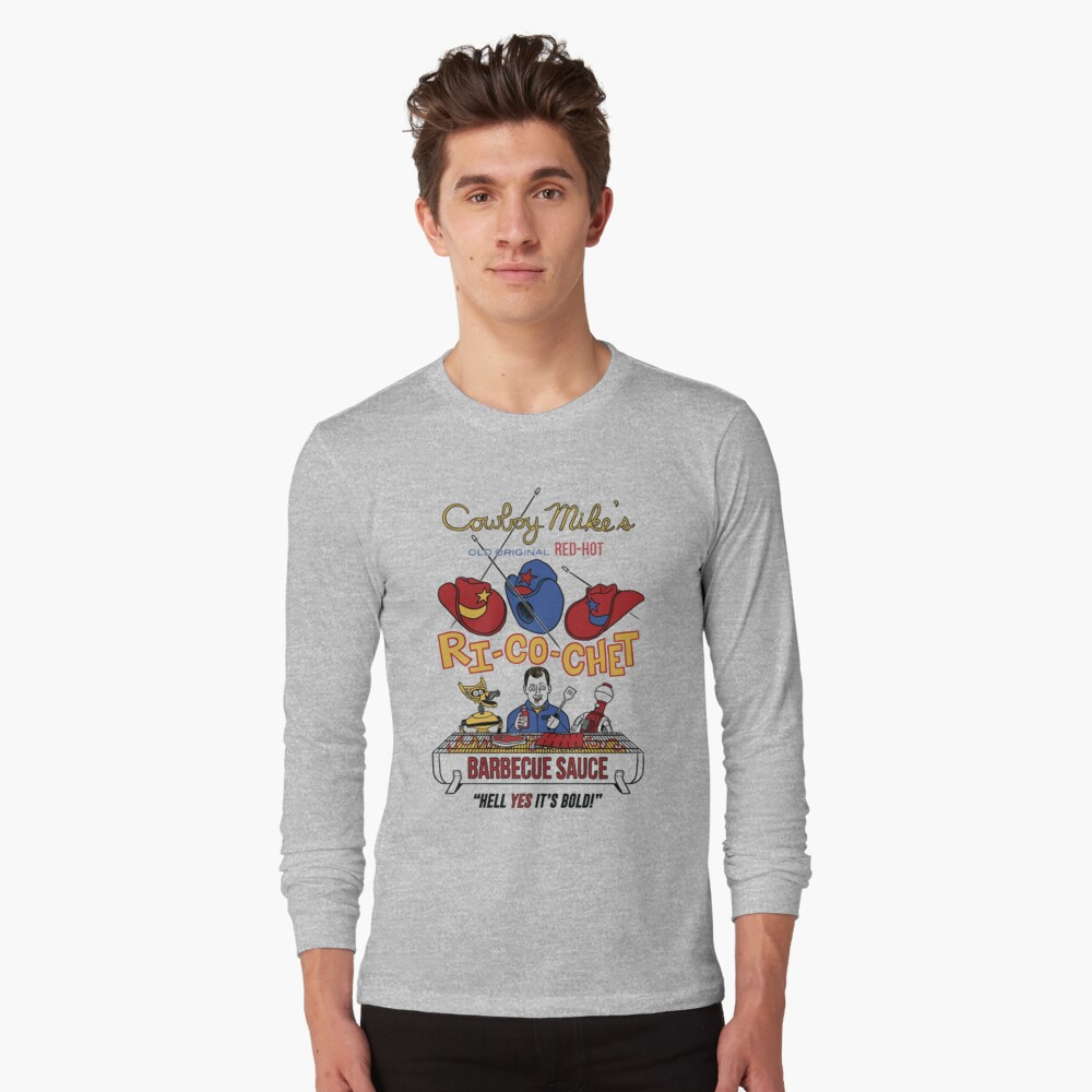 COWBOY MIKE'S BBQ SAUCE Long Sleeve T-Shirt Front