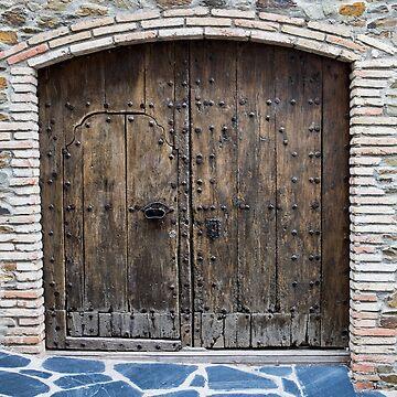 Old Spanish door by Tonywallbank
