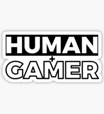 Human And Gamer Classic Timeless Simplistic T-Shirt Design For Men And Women Sticker