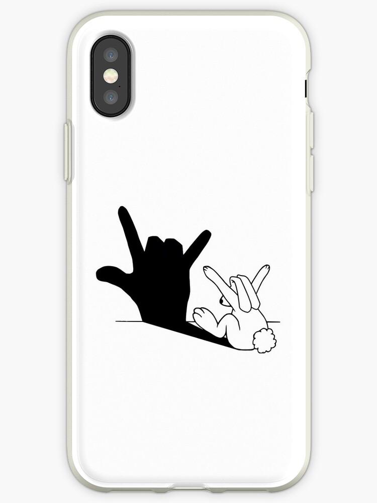 Kaninchen-Liebes-Handschatten von mobiiart