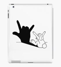 Rabbit Love Hand Shadow iPad Case/Skin