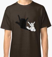 Rabbit Love Hand Shadow Classic T-Shirt