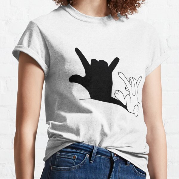 Rabbit Love Hand Shadow Classic T-Shirt