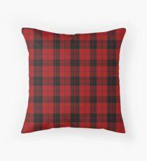 Red and Black   Campbell Clan   Scottish Tartan Throw Pillow