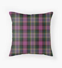 Pink and White   Scottish Clan Tartan  Throw Pillow