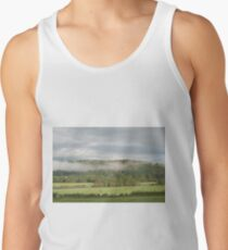 Llandovery Wales UK  Mist clears from the hills around the farmland around the River Towy. Tank Top