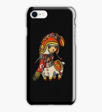 Llama Wearing Colorful Knitted Hat Winter Alpaca iPhone Case/Skin