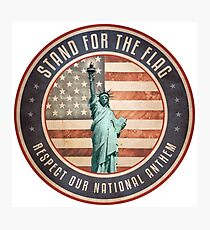 Stand For The Flag Photographic Print