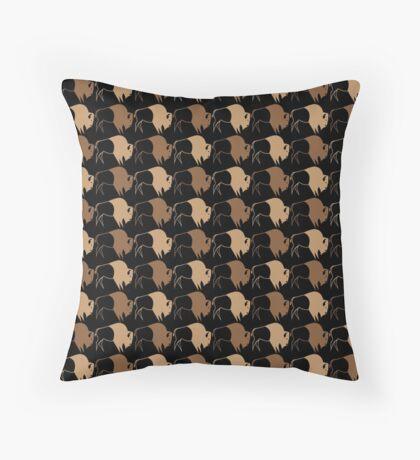 Buffalo Run Throw Pillow