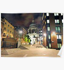 St. Pauls at Night Poster