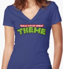 Really Catchy Upbeat Theme Women's Fitted V-Neck T-Shirt