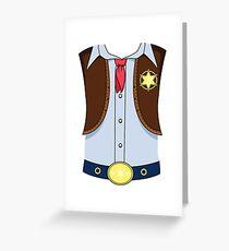 Western Cowboy Sheriff Halloween Costume T-shirt Greeting Card