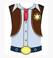 Western Cowboy Sheriff Halloween Costume T-shirt Photographic Print