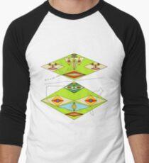Farbiges Design USA Karte und nicht irdische Gesichter T-Shirt