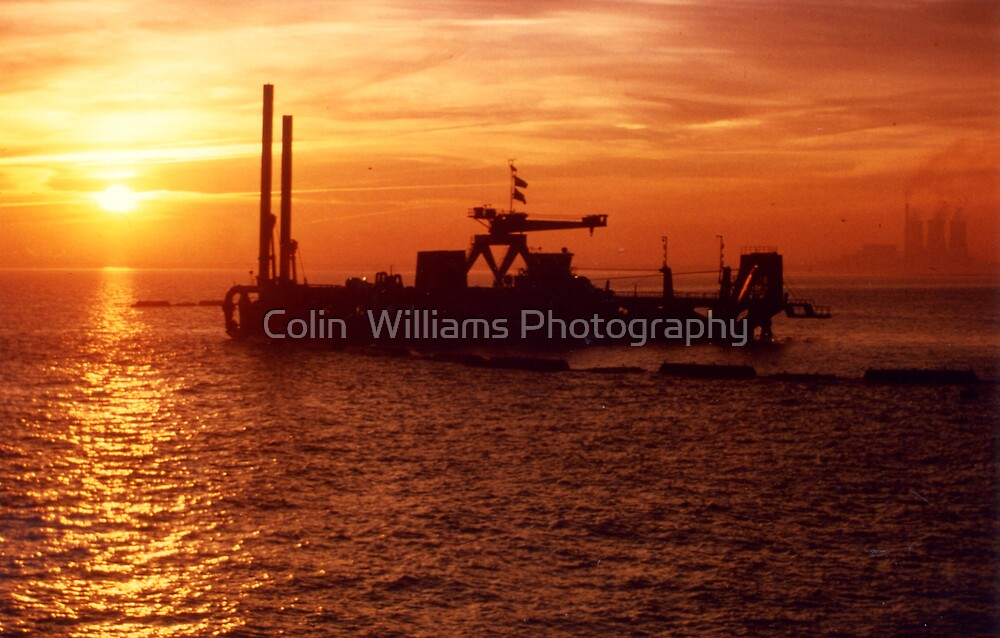 Dredger Sunset, Ramsgate Kent by Colin  Williams Photography
