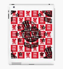 Spin King and Co Globe Logo with Funky Cycling Cap iPad Case/Skin