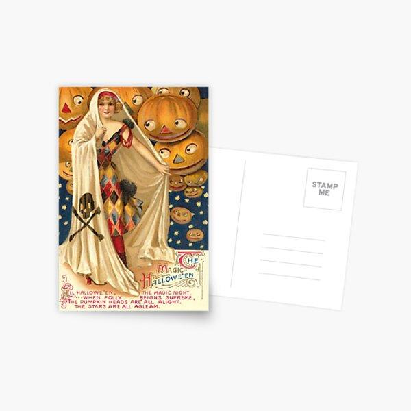 Halloween Vintage 3 (PUMPKIN PEEK) Postcard