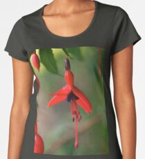 Single Wild Fuchsia Flower, Loch Na Fooey Women's Premium T-Shirt