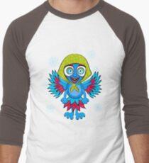Monster-bird with horns, big eyes, teeth and handkerchief on his head. Cartoon flat style vector illustration. T-Shirt