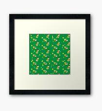 Hanukkah pattern Framed Print