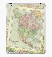 Vintage Colour Maps (North America) iPad Case/Skin