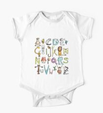 Funny colourful animal alphabet - comic - letters - animals - Gift Kids Clothes