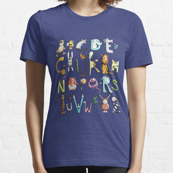 Funny colourful animal alphabet - comic - letters - animals - Gift Essential T-Shirt