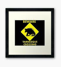 Tarrasque Crossing Framed Print