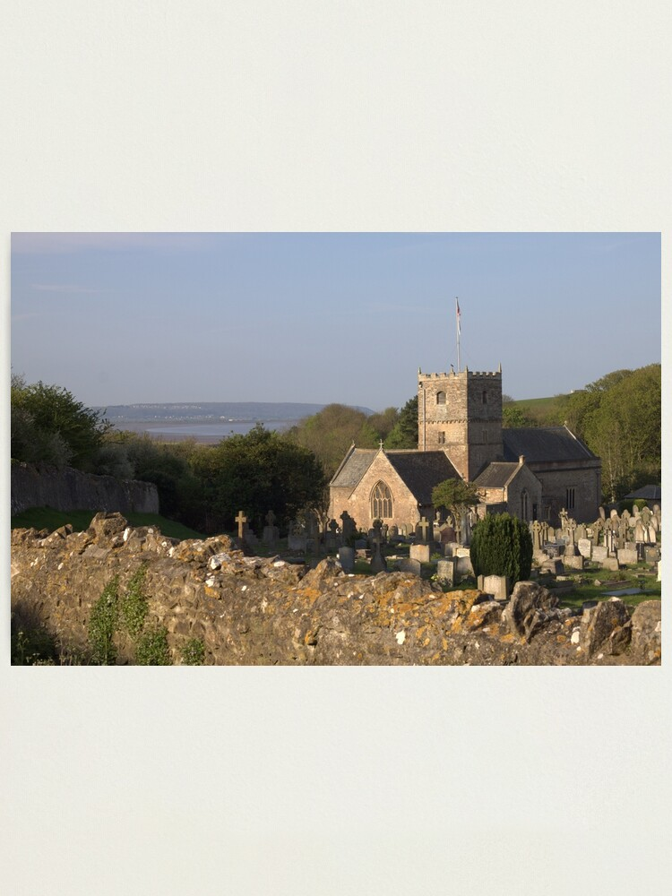 Alternate view of St Andrews Church, Clevedon Photographic Print