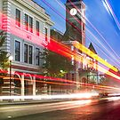 Washington County Courthouse at Night Fayetteville Arkansas by Gregory Ballos