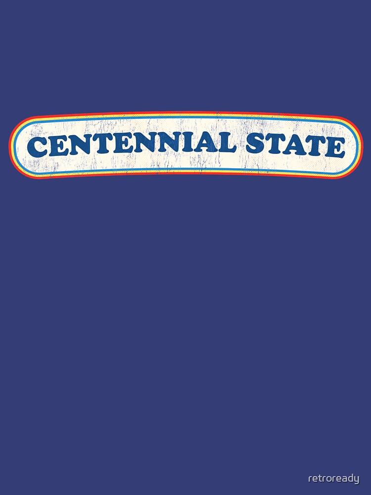 Centennial State | Retro Badge by retroready