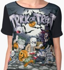 Trick or Treat - Monsters Ball!  Women's Chiffon Top
