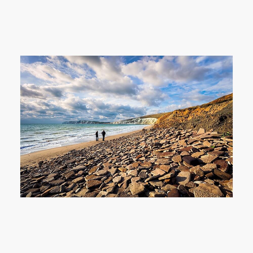 Compton Bay Beach Isle Of Wight Photographic Print