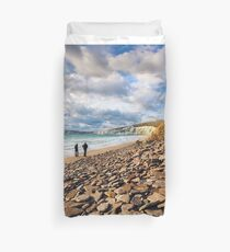 Compton Bay Beach Isle Of Wight Duvet Cover