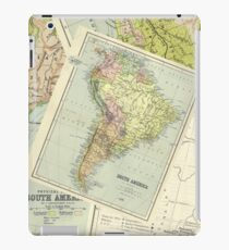 Vintage Colour Maps (South America) iPad Case/Skin